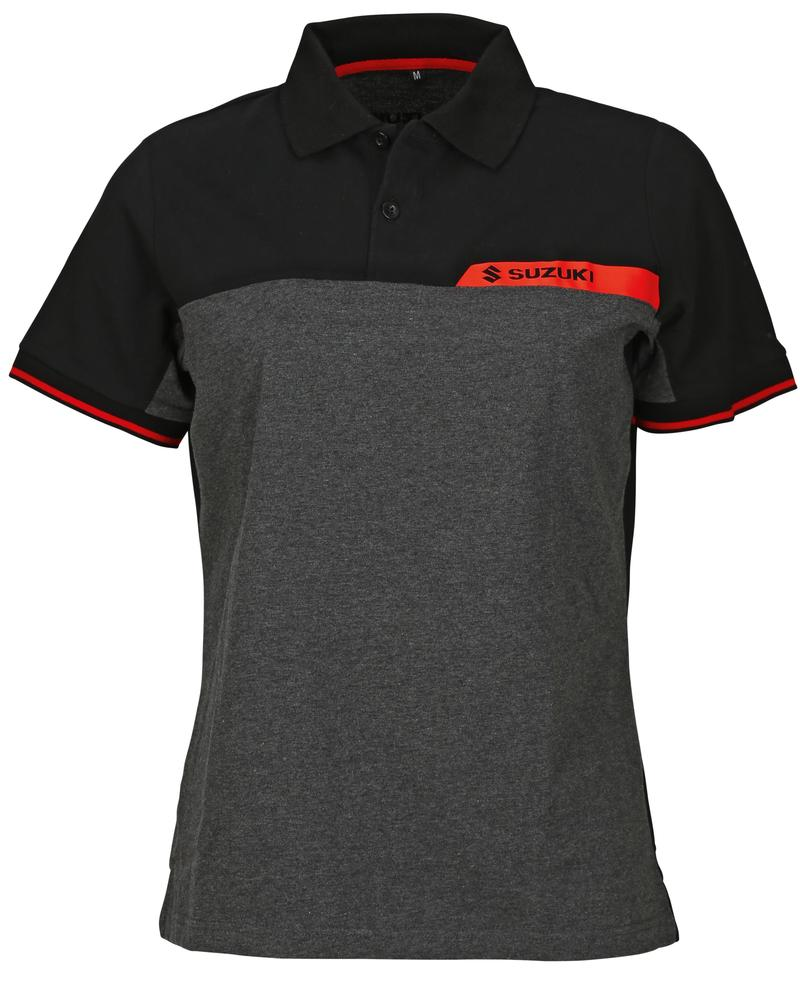 Team Black Suzuki Ladies Polo Shirt 2018-19