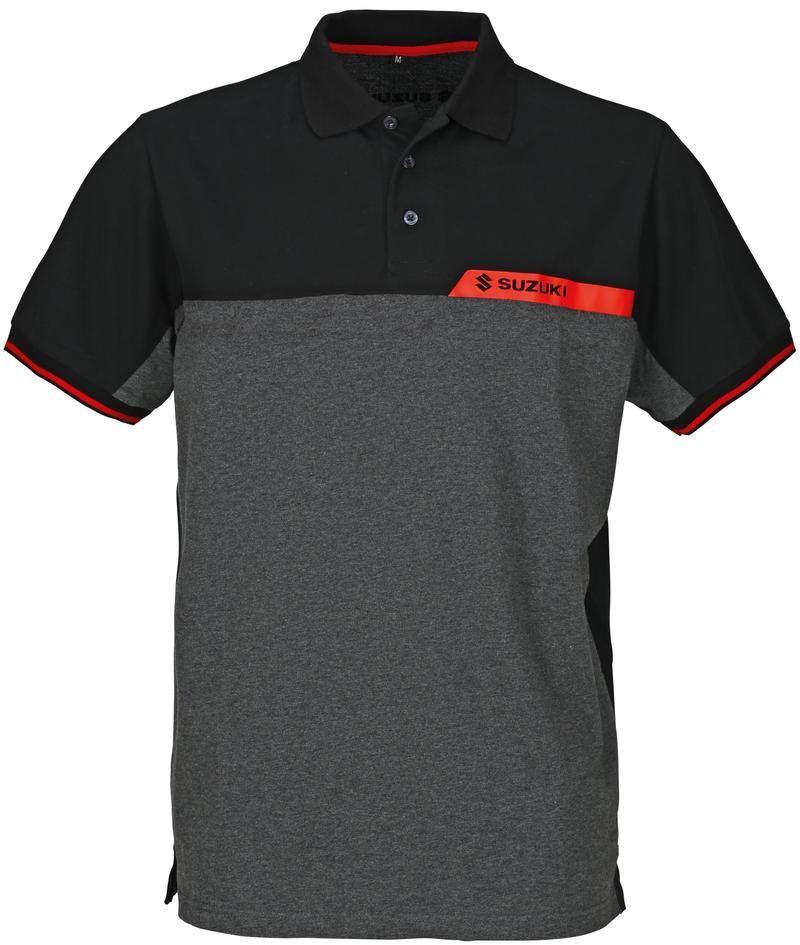 Team Black Mens Suzuki Polo Shirt 2018-19