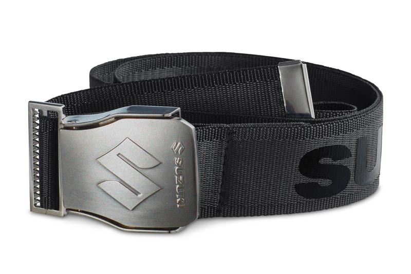 Team Black Suzuki Belt with Polished Buckle