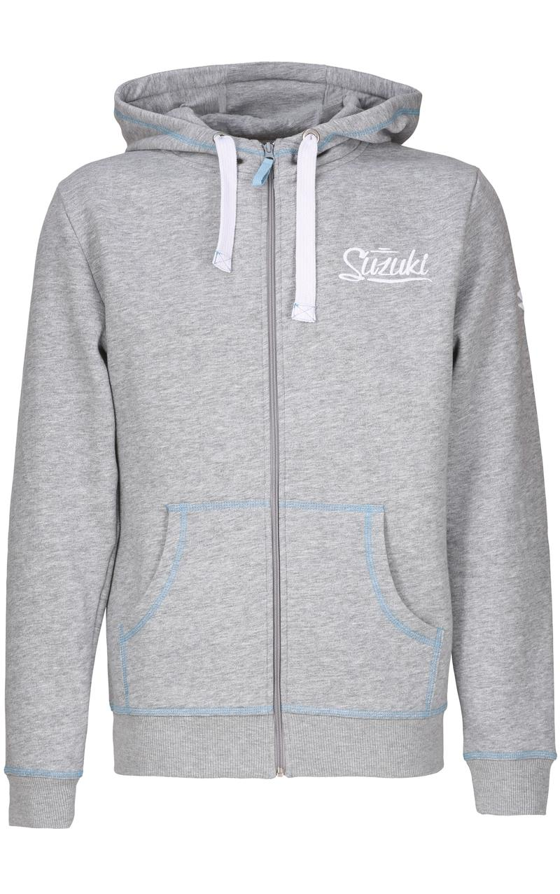 Suzuki Grey Hooded Sweat Jacket