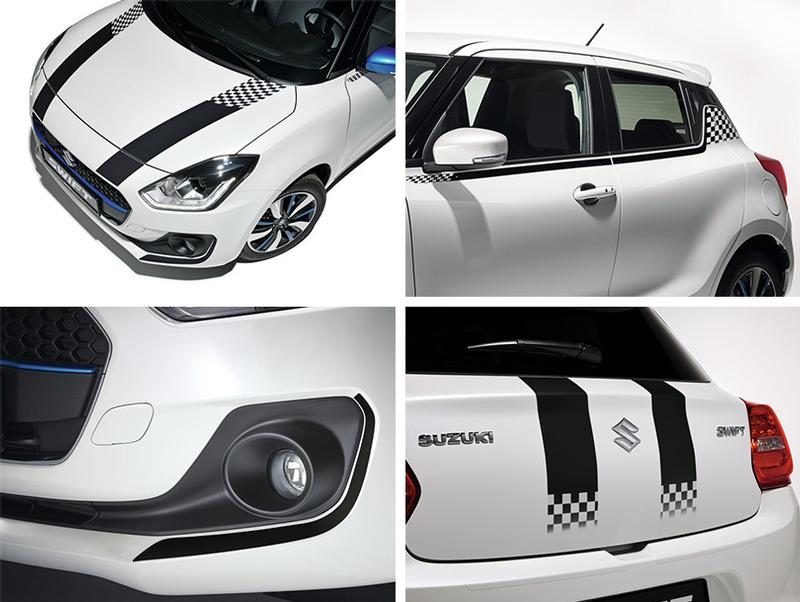 BODY DECAL SET - SUZUKI SWIFT 06/17>