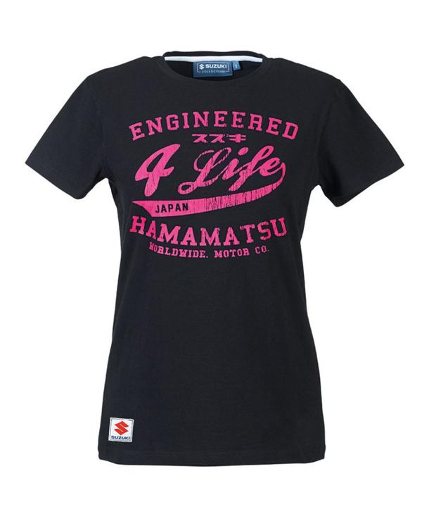 Ladies Engineered for Life T-Shirt - Black