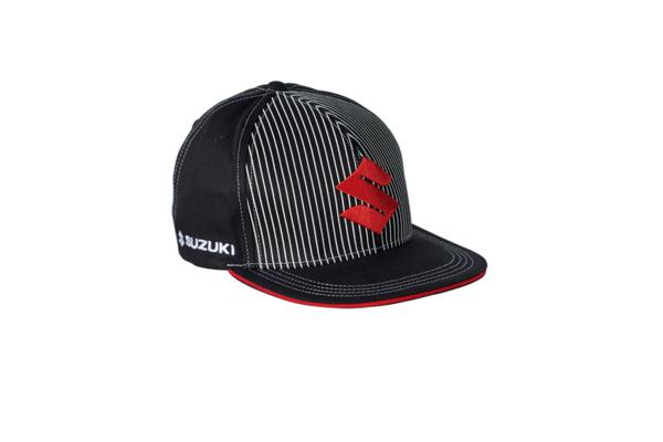 Team Black Suzuki Flat Peak Cap