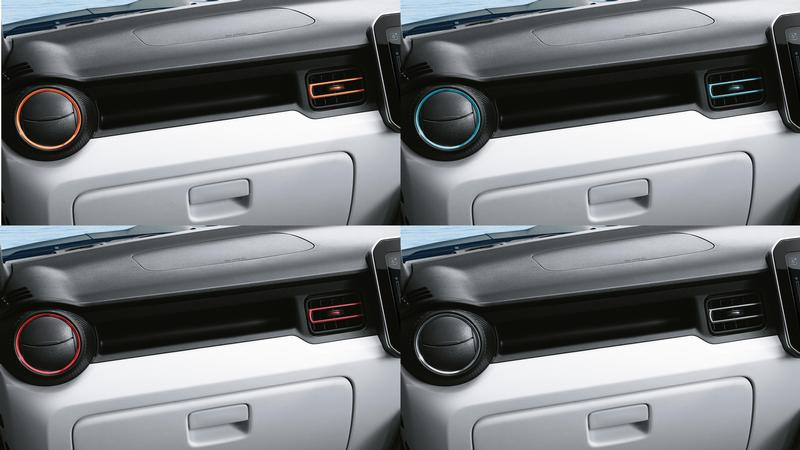 Dashboard vent coloured trim set - New Ignis