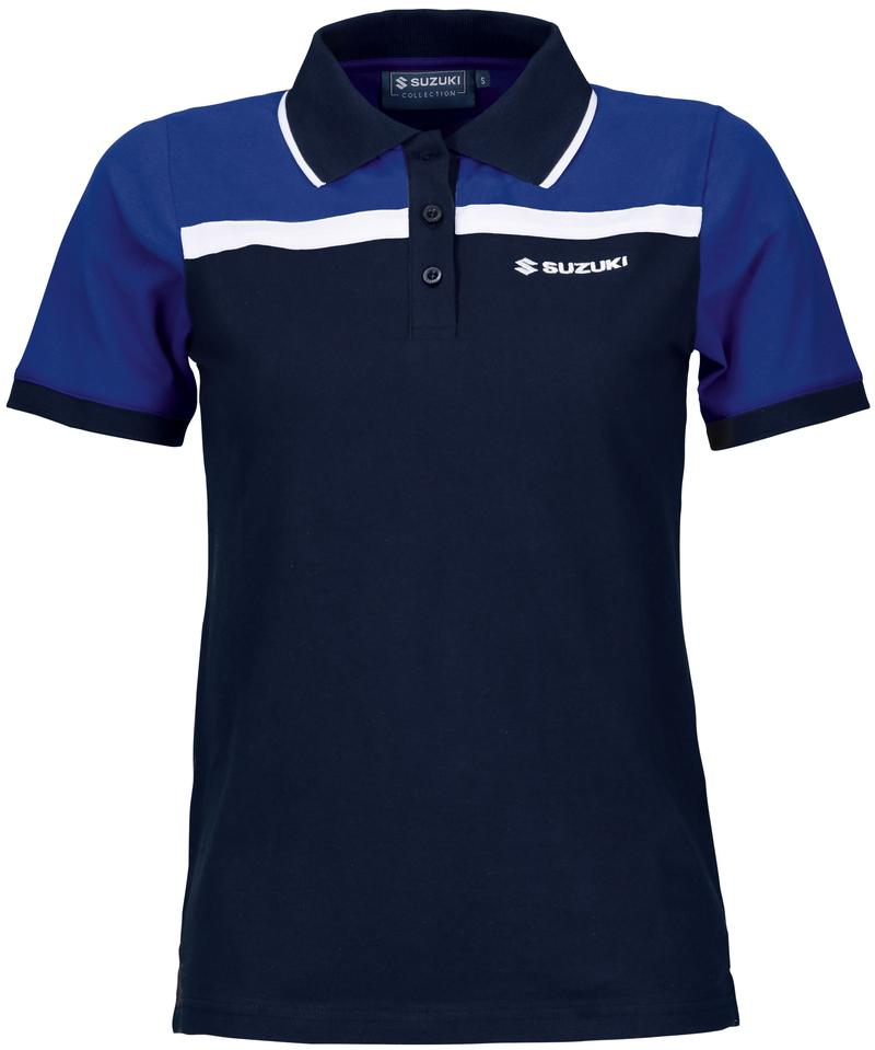 Team Blue Polo Shirt Ladies'