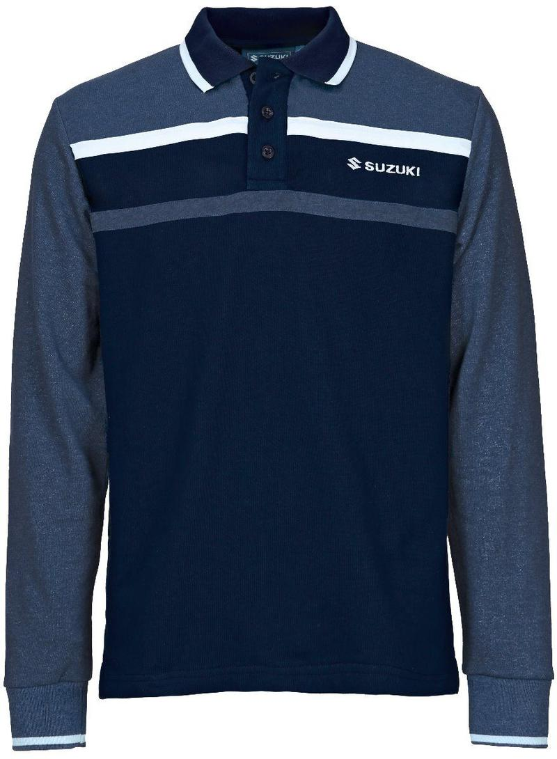 Team Blue Long Sleeve Polo Shirt