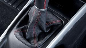Leather Gear Shift Boot Blk/Slv/Red - New Baleno